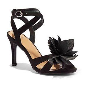 NEW New York & Co. Black Flower Heels 8